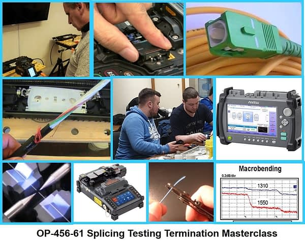 Fibre Training Course OP-456-61 is a comprehensive course covering splicing testing and terminating of optical fibres