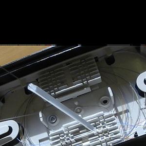 Fusion splice protection using heatshrink splice protector