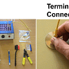 Fibre connector termination tools and polishing method