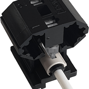 FAST Fibre Connector assembly showing the cradle and connector body within