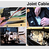 Cable jointing stages - cable preparation, fibre clamping, fibre dressing, finished joint