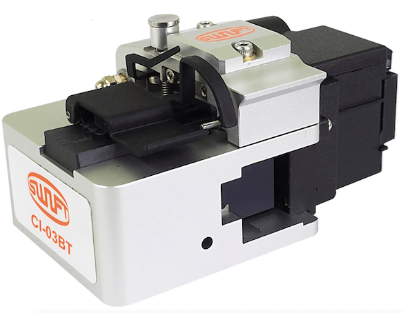 cl03bt fibre cleaver showing an angled view of the closed unit